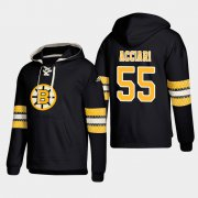 Wholesale Cheap Boston Bruins #55 Noel Acciari Black adidas Lace-Up Pullover Hoodie