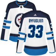 Wholesale Cheap Adidas Jets #33 Dustin Byfuglien White Road Authentic Women's Stitched NHL Jersey