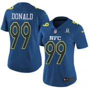 Wholesale Cheap Nike Rams #99 Aaron Donald Navy Women's Stitched NFL Limited NFC 2017 Pro Bowl Jersey