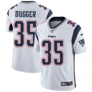 Wholesale Cheap Nike Patriots #35 Kyle Dugger White Youth Stitched NFL Vapor Untouchable Limited Jersey