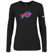 Wholesale Cheap Women's Nike Buffalo Bills Of The City Long Sleeve Tri-Blend NFL T-Shirt Black
