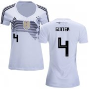 Wholesale Cheap Women's Germany #4 Ginter White Home Soccer Country Jersey
