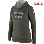 Wholesale Cheap Women's Nike Carolina Panthers Heart & Soul Pullover Hoodie Grey