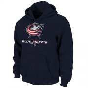 Wholesale Cheap Columbus Blue Jackets Majestic Critical Victory VIII Fleece Hoodie Navy Blue