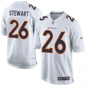Wholesale Cheap Nike Broncos #26 Darian Stewart White Men's Stitched NFL Game Event Jersey