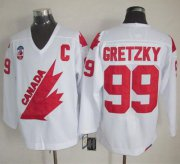 Wholesale Cheap Olympic 1991 CA. #99 Wayne Gretzky White CCM Throwback Stitched NHL Jersey