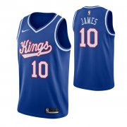 Wholesale Cheap Men's Sacramento Kings #10 Justin James Blue 2019-20 Hardwood Classics Jersey
