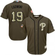 Wholesale Cheap Phillies #19 Greg Luzinski Green Salute to Service Stitched MLB Jersey
