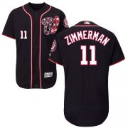 Wholesale Cheap Nationals #11 Ryan Zimmerman Navy Blue Flexbase Authentic Collection Stitched MLB Jersey