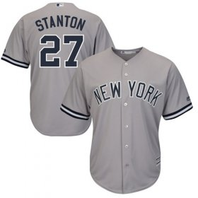 Wholesale Cheap Yankees #27 Giancarlo Stanton Grey New Cool Base Stitched MLB Jersey