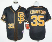 Wholesale Cheap Giants #35 Brandon Crawford Black 2016 Cool Base Stitched MLB Jersey