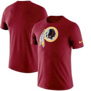 Wholesale Cheap Washington Redskins Nike Essential Logo Dri-FIT Cotton T-Shirt Burgundy