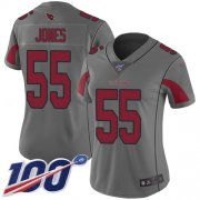 Wholesale Cheap Nike Cardinals #55 Chandler Jones Silver Women's Stitched NFL Limited Inverted Legend 100th Season Jersey