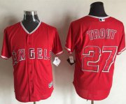 Wholesale Cheap Angels of Anaheim #27 Mike Trout Red New Cool Base Stitched MLB Jersey