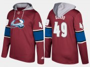 Wholesale Cheap Avalanche #49 Samuel Girard Burgundy Name And Number Hoodie