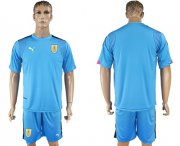 Wholesale Cheap Uruguay Blank Blue Goalkeeper Soccer Country Jersey