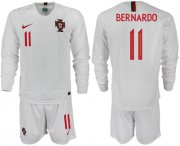 Wholesale Cheap Portugal #11 Bernardo Away Long Sleeves Soccer Country Jersey