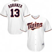 Wholesale Cheap Twins #13 Ehire Adrianza White Cool Base Stitched Youth MLB Jersey