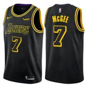 Wholesale Cheap Men's Los Angeles Lakers #7 JaVale McGee Black Nike NBA City Edition Swingman Jersey