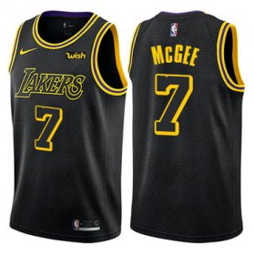 Wholesale Cheap Men\'s Los Angeles Lakers #7 JaVale McGee Black Nike NBA City Edition Swingman Jersey