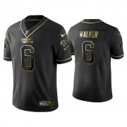 Wholesale Cheap Men's Carolina Panthers #6 P.J. Walker Golden Edition Vapor Limited Black Nike Jersey