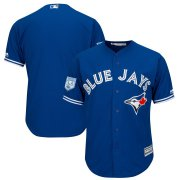 Wholesale Cheap Blue Jays Blank Blue 2019 Spring Training Cool Base Stitched MLB Jersey