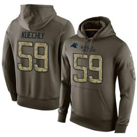 Wholesale Cheap NFL Men\'s Nike Carolina Panthers #59 Luke Kuechly Stitched Green Olive Salute To Service KO Performance Hoodie
