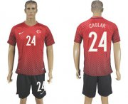 Wholesale Cheap Turkey #24 Caglar Home Soccer Country Jersey