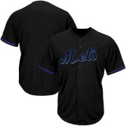 Wholesale Cheap New York Mets Majestic Big & Tall Pop Fashion V-Neck Jersey Black