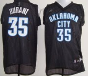 Wholesale Cheap Oklahoma City Thunder #35 Kevin Durant Black Swingman Jersey