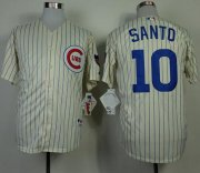 Wholesale Cheap Cubs #10 Ron Santo Cream 1969 Turn Back The Clock Stitched MLB Jersey