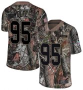 Wholesale Cheap Nike Broncos #95 Derek Wolfe Camo Youth Stitched NFL Limited Rush Realtree Jersey