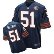 Wholesale Nike Bears #51 Dick Butkus Navy Blue Throwback Men's Stitched NFL Elite Jersey