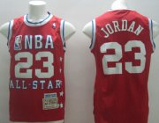 Wholesale Cheap NBA 1989 All-Star #23 Michael Jordan Red Swingman Throwback Jersey