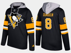 Wholesale Cheap Penguins #8 Brian Dumoulin Black Name And Number Hoodie