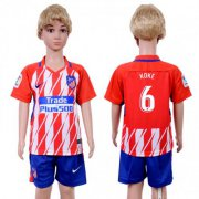 Wholesale Cheap Atletico Madrid #6 Koke Home Kid Soccer Club Jersey