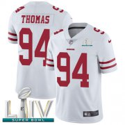 Wholesale Cheap Nike 49ers #94 Solomon Thomas White Super Bowl LIV 2020 Youth Stitched NFL Vapor Untouchable Limited Jersey