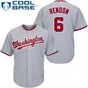 Wholesale Cheap Nationals #6 Anthony Rendon Grey Cool Base Stitched Youth MLB Jersey