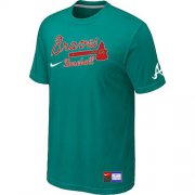 Wholesale Cheap Atlanta Braves Nike Short Sleeve Practice MLB T-Shirt Teal Green