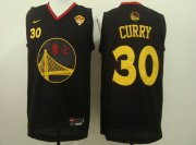 Wholesale Cheap Men's Golden State Warriors #30 Stephen Curry Chinese Black Nike Authentic Jersey