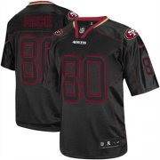 Wholesale Cheap Nike 49ers #80 Jerry Rice Lights Out Black Men's Stitched NFL Elite Jersey