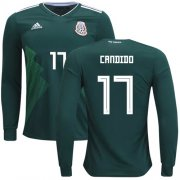 Wholesale Cheap Mexico #17 Candido Home Long Sleeves Soccer Country Jersey