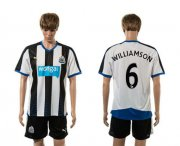 Wholesale Cheap Newcastle #6 Williamson Home Soccer Club Jersey