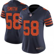 Wholesale Cheap Nike Bears #58 Roquan Smith Navy Blue Alternate Women's Stitched NFL Vapor Untouchable Limited Jersey