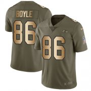 Wholesale Cheap Nike Ravens #86 Nick Boyle Olive/Gold Youth Stitched NFL Limited 2017 Salute To Service Jersey