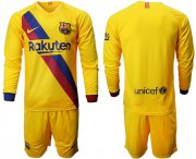 Wholesale Cheap Barcelona Blank Away Long Sleeves Soccer Club Jersey