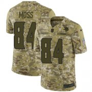 Wholesale Cheap Nike Vikings #84 Randy Moss Camo Men's Stitched NFL Limited 2018 Salute To Service Jersey