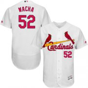 Wholesale Cheap Cardinals #52 Michael Wacha White Flexbase Authentic Collection Stitched MLB Jersey