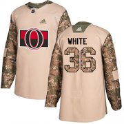 Wholesale Cheap Adidas Senators #36 Colin White Camo Authentic 2017 Veterans Day Stitched NHL Jersey