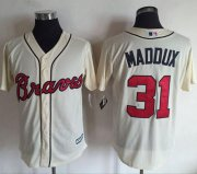 Wholesale Cheap Braves #31 Greg Maddux Cream New Cool Base Stitched MLB Jersey